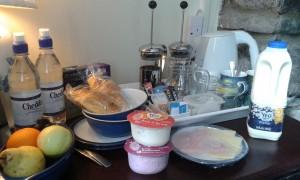 B&B accommodation breakfast supplies